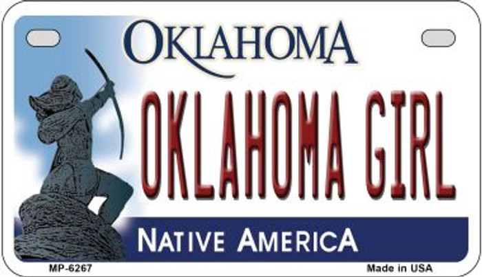 Oklahoma Girl Oklahoma Novelty Metal Motorcycle Plate MP-6267