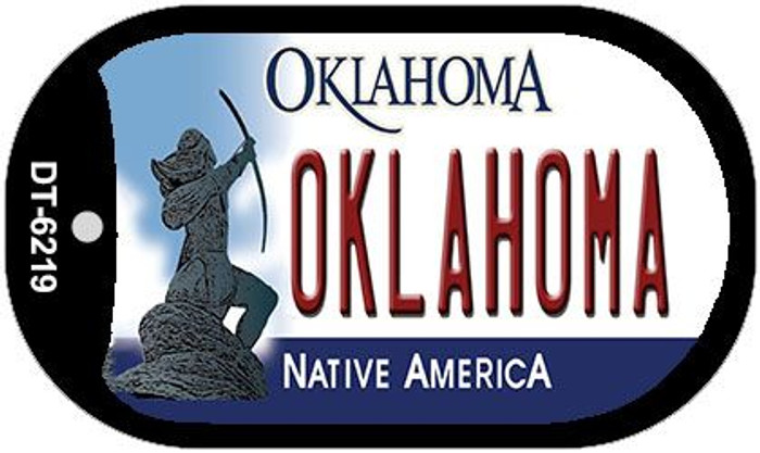 Oklahoma Novelty Metal Dog Tag Necklace DT-6219