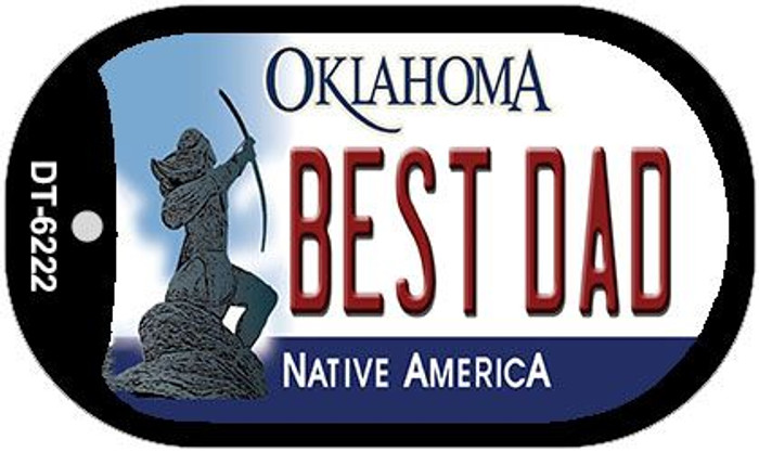 Best Dad Oklahoma Novelty Metal Dog Tag Necklace DT-6222