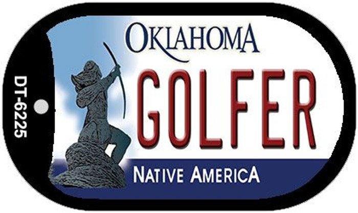 Golfer Oklahoma Novelty Metal Dog Tag Necklace DT-6225