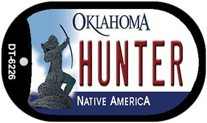 Hunter Oklahoma Novelty Metal Dog Tag Necklace DT-6226