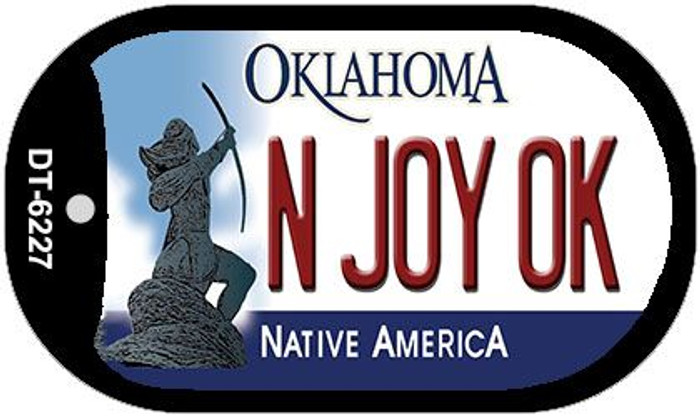 N Joy OK Oklahoma Novelty Metal Dog Tag Necklace DT-6227