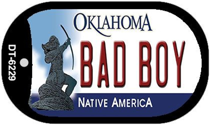 Bad Boy Oklahoma Novelty Metal Dog Tag Necklace DT-6229