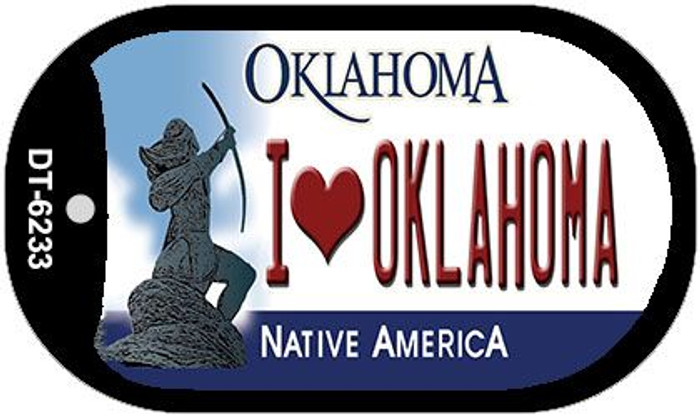 I Love Oklahoma Novelty Metal Dog Tag Necklace DT-6233