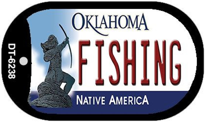 Fishing Oklahoma Novelty Metal Dog Tag Necklace DT-6238