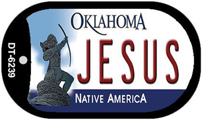 Jesus Oklahoma Novelty Metal Dog Tag Necklace DT-6239