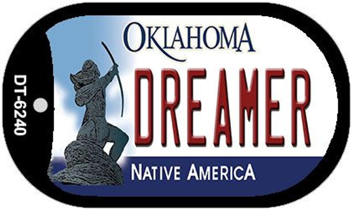 Dreamer Oklahoma Novelty Metal Dog Tag Necklace DT-6240