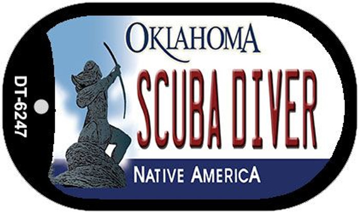 Scuba Diver Oklahoma Novelty Metal Dog Tag Necklace DT-6247