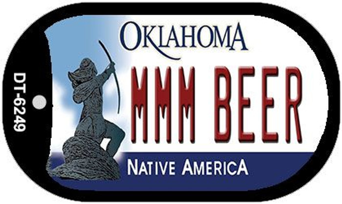 MMM Beer Oklahoma Novelty Metal Dog Tag Necklace DT-6249