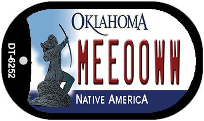 Meeooww Oklahoma Novelty Metal Dog Tag Necklace DT-6252