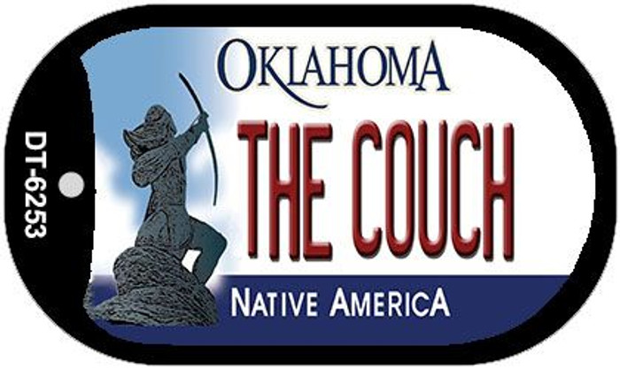 The Couch Oklahoma Novelty Metal Dog Tag Necklace DT-6253