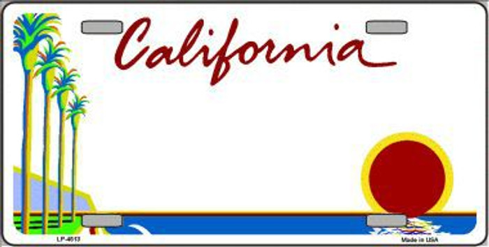 California Novelty State Background Blank Metal License Plate LP-4513
