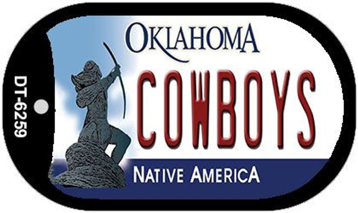 Cowboys Oklahoma Novelty Metal Dog Tag Necklace DT-6259