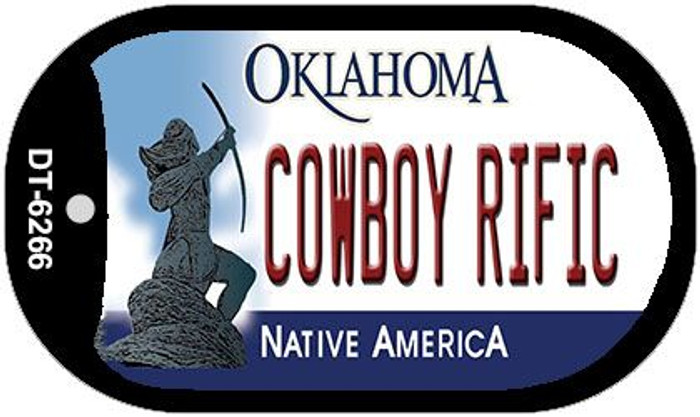 Cowboy Rific Oklahoma Novelty Metal Dog Tag Necklace DT-6266