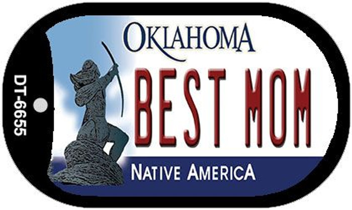 Best Mom Oklahoma Novelty Metal Dog Tag Necklace DT-6655