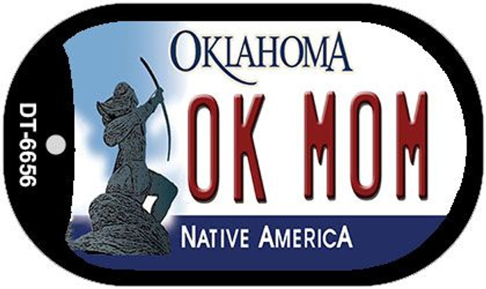 OK Mom Oklahoma Novelty Metal Dog Tag Necklace DT-6656