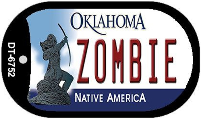 Zombie Oklahoma Novelty Metal Dog Tag Necklace DT-6752