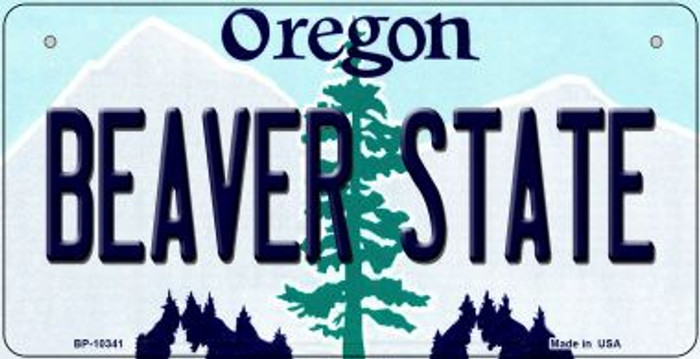 Beaver State Oregon Novelty Metal Bicycle Plate BP-10341