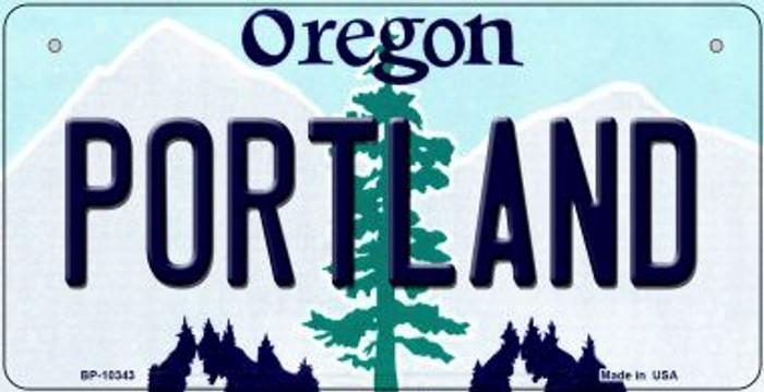Portland Oregon Novelty Metal Bicycle Plate BP-10343