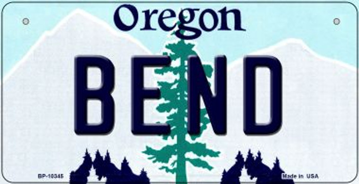 Bend Oregon Novelty Metal Bicycle Plate BP-10345