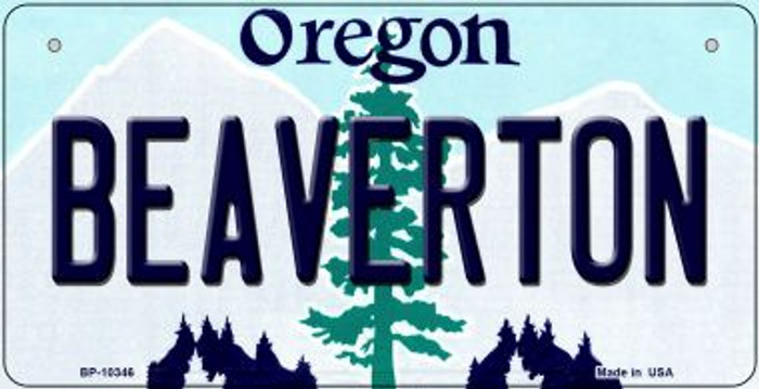 Beaverton Oregon Novelty Metal Bicycle Plate BP-10346