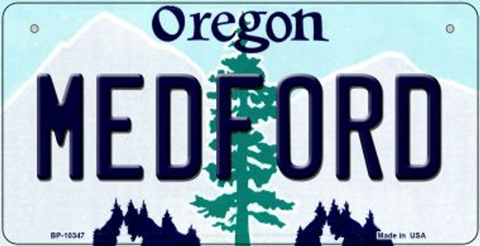 Medford Oregon Novelty Metal Bicycle Plate BP-10347