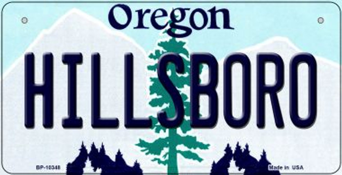 Hillsboro Oregon Novelty Metal Bicycle Plate BP-10348