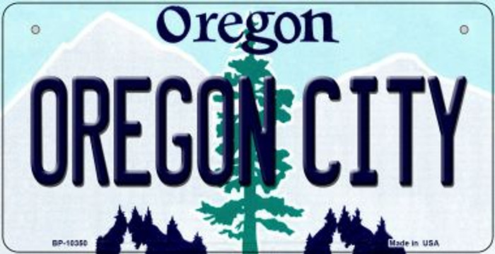 Oregon City Novelty Metal Bicycle Plate BP-10350