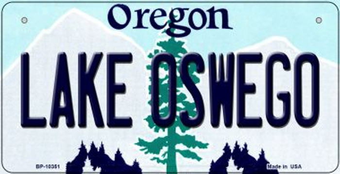 Lake Oswego Oregon Novelty Metal Bicycle Plate BP-10351