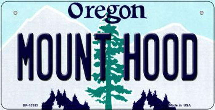 Mount Hood Oregon Novelty Metal Bicycle Plate BP-10353