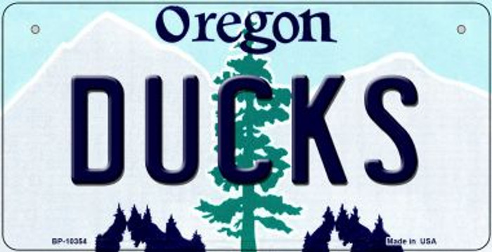 Ducks Oregon Novelty Metal Bicycle Plate BP-10354