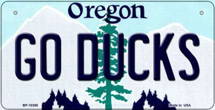 Go Ducks Oregon Novelty Metal Bicycle Plate BP-10355