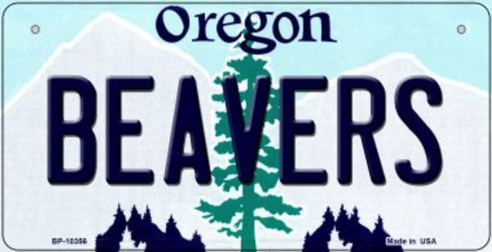 Beavers Oregon Novelty Metal Bicycle Plate BP-10356