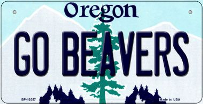 Go Beavers Oregon Novelty Metal Bicycle Plate BP-10357