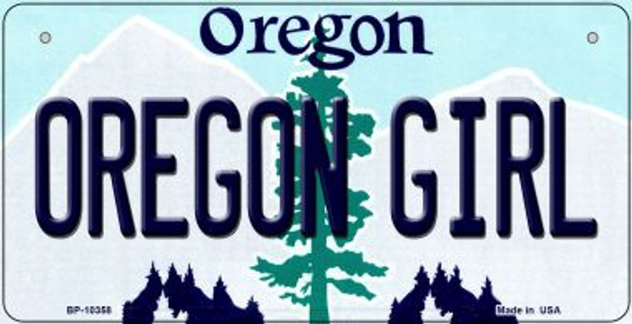 Oregon Girl Novelty Metal Bicycle Plate BP-10358