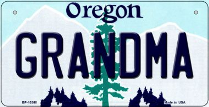 Grandma Oregon Novelty Metal Bicycle Plate BP-10360