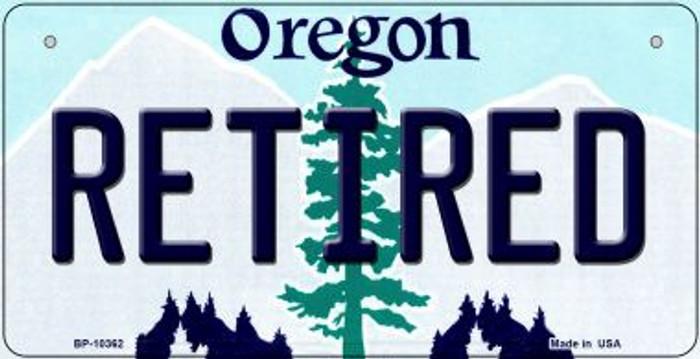 Retired Oregon Novelty Metal Bicycle Plate BP-10362