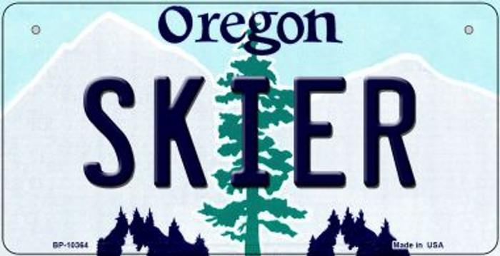 Skier Oregon Novelty Metal Bicycle Plate BP-10364
