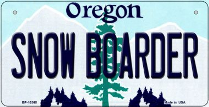 Snow Boarder Oregon Novelty Metal Bicycle Plate BP-10365