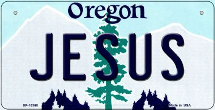 Jesus Oregon Novelty Metal Bicycle Plate BP-10368