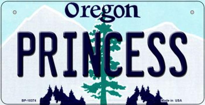 Princess Oregon Novelty Metal Bicycle Plate BP-10374