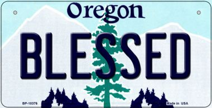 Blessed Oregon Novelty Metal Bicycle Plate BP-10376