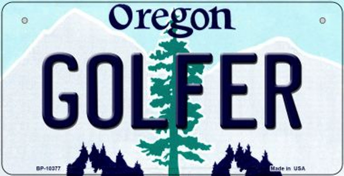 Golfer Oregon Novelty Metal Bicycle Plate BP-10377