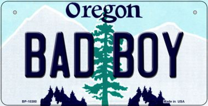 Bad Boy Oregon Novelty Metal Bicycle Plate BP-10380
