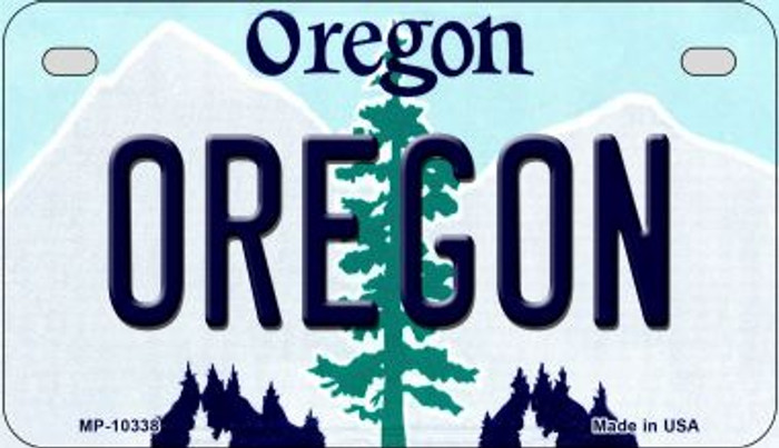 Oregon Novelty Metal Motorcycle Plate MP-10338
