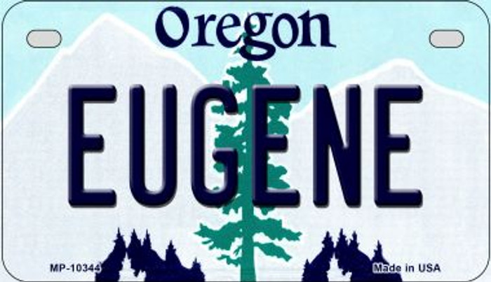 Eugene Oregon Novelty Metal Motorcycle Plate MP-10344
