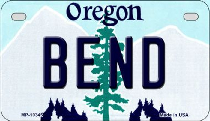 Bend Oregon Novelty Metal Motorcycle Plate MP-10345