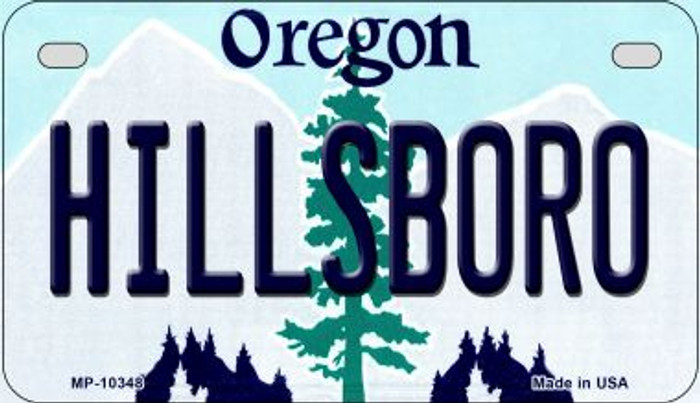Hillsboro Oregon Novelty Metal Motorcycle Plate MP-10348