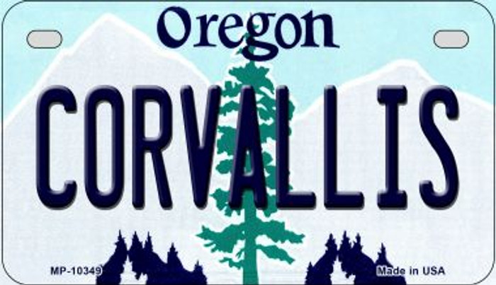 Coroallis Oregon Novelty Metal Motorcycle Plate MP-10349