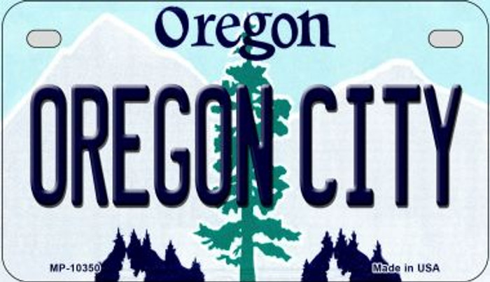 Oregon City Novelty Metal Motorcycle Plate MP-10350